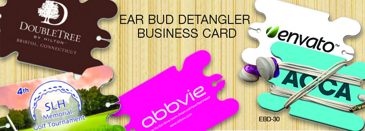 Ear Bud Detangler Business Card
